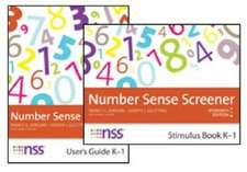 Number Sense Screener (Nss ) Quick Script, K 1, Research Edition