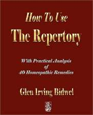 How to Use the Repertory:  A Biography