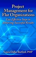 Project Management for Flat Organizations:  Cost Effective Steps to Achieving Successful Results