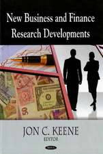 New Business and Finance Research Developments
