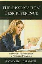 The Dissertation Desk Reference