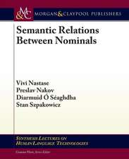Semantic Relations Between Nominals