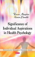 Significance of Individual Aspirations in Health Psychology
