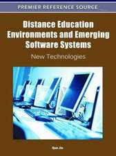 Distance Education Environments and Emerging Software Systems