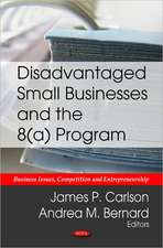 Disadvantaged Small Businesses & the 8(a) Program
