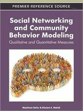 Social Networking and Community Behavior Modeling