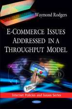 E-Commerce Issues Addressed in a Throughput Model