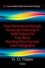 Two-Dimensional Periodic Nanoscale Patterning of Solid Surfaces by Four-Beam Standing Wave Excimer Laser Lithography