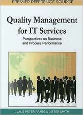 Quality Management for IT Services