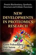 New Developments in Proteomics Research