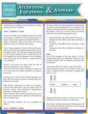 Accounting Equations and Answers (Speedy Study Guides