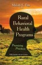 Rural Behavioral Health Programs