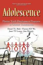 Adolescence: Positive Youth Development Programs in Chinese Communities