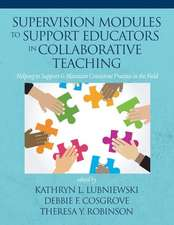 Supervision Modules to Support Educators in Collaborative Teaching