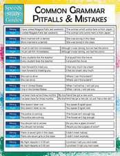 Common Grammar Pitfalls and Mistakes (Speedy Study Guides):  Math 9th Grade (Speedy Study Guides)