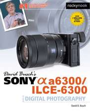 David Busch S Sony Alpha A6300/Ilce-6300 Guide to Digital Photography:  115 X-Pert Tips to Get the Most Out of Your Camera