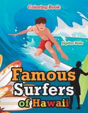 Famous Surfers of Hawaii Coloring Book