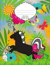 Black Unicorn Notebook: School Supplies Composition Book for Kids