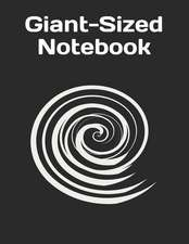 Giant-Sized Notebook: Black Cover Design, 600 Pages, Notebook/300 Ruled Sheets
