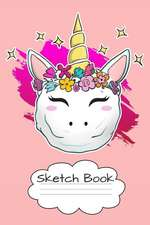 Sketch Book: Glossy Christmas Unicorn Snowball Design Cover with 100 Framed Pages for Your Sketches.