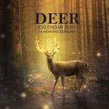 Deer Calendar 2019: 16 Month Calendar