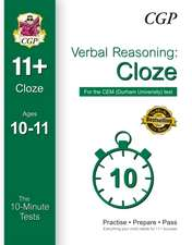 10-Minute Tests for 11+ Verbal Reasoning: Cloze Ages 10-11 (Book 1) - CEM Test