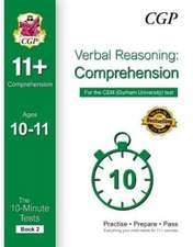10-Minute Tests for 11+ Comprehension Ages 10-11 (Book 2) - CEM Test