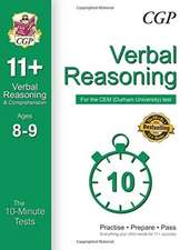 10-Minute Tests for 11+ Verbal Reasoning Ages 8-9 - CEM Test