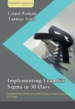Implementing Lean Six SIGMA in 30 Days:  Customer Engagement in 30 Days