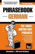 English-German Phrasebook and 250-Word Mini Dictionary