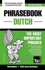 English-Dutch Phrasebook and 1500-Word Dictionary