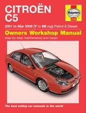 Citroen C5 Petrol & Diesel (01 - Mar 08) Haynes Repair Manual