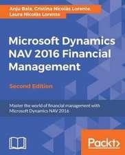 Microsoft Dynamics NAV 2016 Financial Management