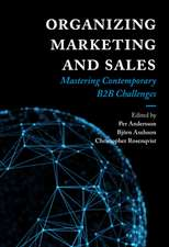 Organizing Marketing and Sales