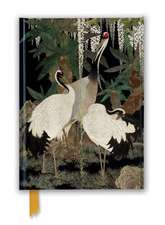 Ashmolean: Cranes, Cycads and Wisteria by Nishimura So-zaemon XII (Foiled Journal)