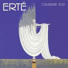 Erté Mini Wall calendar 2021 (Art Calendar)