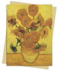 Sunflowers (Van Gogh) Greeting Card: Pack of 6