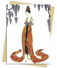 Feather Gown (Erté) Greeting Card: Pack of 6