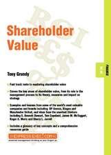 Shareholder Value: Finance 05.06