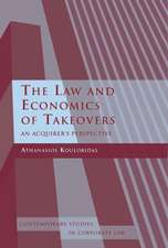 The Law and Economics of Takeovers: An Acquirer's Perspective