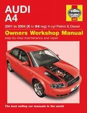 Audi A4 Petrol and Diesel Service and Repair Manual: Audi A4 Petrol & Diesel (01 - 04) X to 54