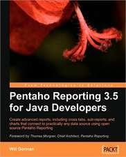Pentaho Reporting 3.5 for Java Developers