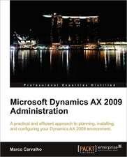 Microsoft Dynamics Ax 2009 Administration