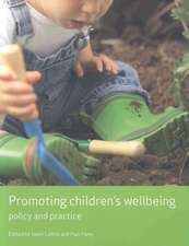 Promoting children's wellbeing: Policy and practice