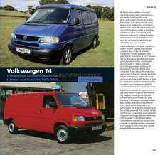 Volkswagen T4:  Transporter, Caravelle, Multivan, Camper and EuroVan 1990-2003