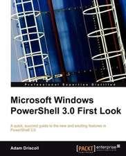 Microsoft Windows Powershell 3.0 First Look