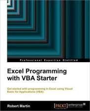 Excel Programming with VBA Starter