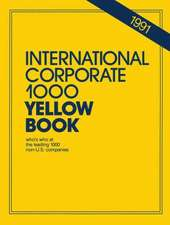 International Corporate 1000 Yellow Book: 1990