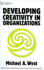 Developing Creativity in Organisations