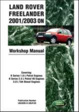 Land Rover Freelander 2001/2003 on Workshop Manual Service Procedures:  Publication Number Lrl 0459bb Which Includes Lrl 0459eng and Lrl 0545eng